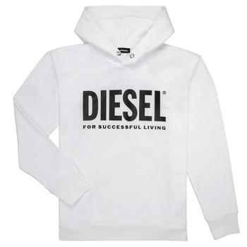 Vêtements Garçon Sweats Diesel SDIVISION LOGO Blanc