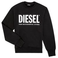 Vêtements Garçon Sweats Diesel SCREWDIVISION LOGO Noir