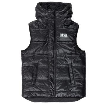 Vêtements Garçon Doudounes Diesel JSUNNY Noir