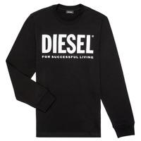 Vêtements Garçon T-shirts manches longues Diesel TJUSTLOGO ML Noir