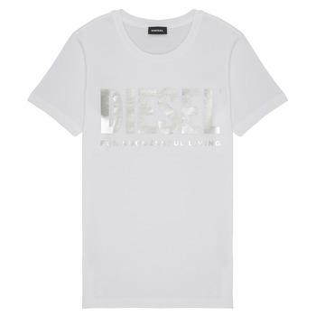 Vêtements Fille T-shirts manches courtes Diesel TSILYWX Blanc