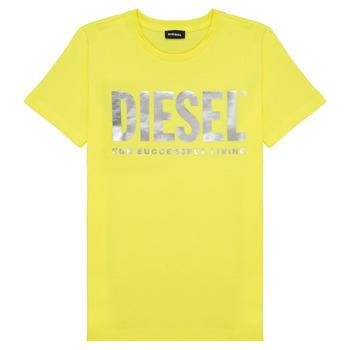 Vêtements Fille T-shirts manches courtes Diesel TSILYWX Jaune