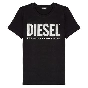 Vêtements Fille T-shirts manches courtes Diesel TSILYWX Noir