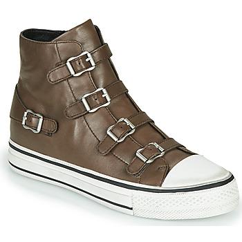 Chaussures Femme Baskets montantes Ash VIRGIN FANGO Grey