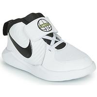 Chaussures Garçon Basketball Nike TEAM HUSTLE D 9 TD Blanc / Noir