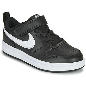 Chaussures Enfant Baskets basses Nike COURT BOROUGH LOW 2 PS Noir / Blanc