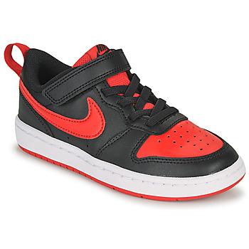 Chaussures Enfant Baskets basses Nike COURT BOROUGH LOW 2 PS Noir / Rouge