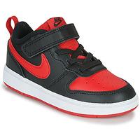 Chaussures Enfant Baskets basses Nike COURT BOROUGH LOW 2 TD Noir / Rouge
