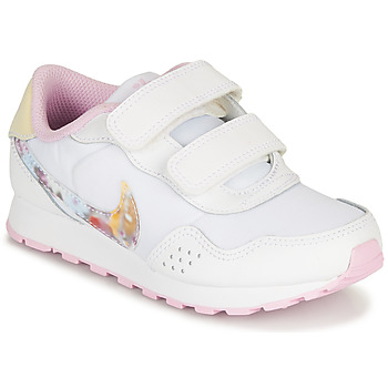 Chaussures Fille Baskets basses Nike MD VALIANT PS Blanc / Rose
