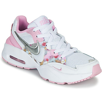Chaussures Fille Baskets basses Nike AIR MAX FUSION SE GS Blanc / Rose