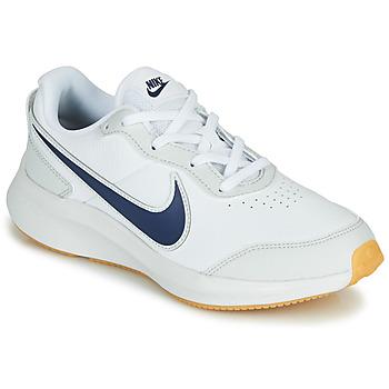Chaussures Garçon Baskets basses Nike VARSITY LEATHER GS Blanc / Bleu