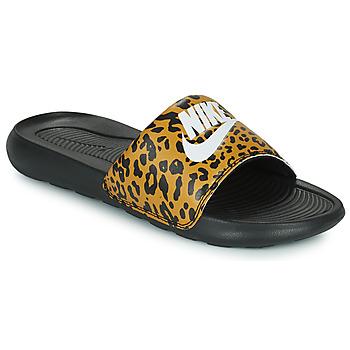 Chaussures Femme Claquettes Nike Nike Victori Print (Name Not Legal) Marron / Noir