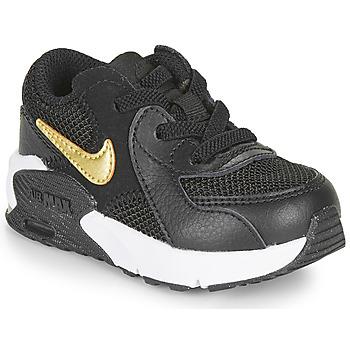 Chaussures Enfant Baskets basses Nike AIR MAX EXCEE TD Noir / Doré