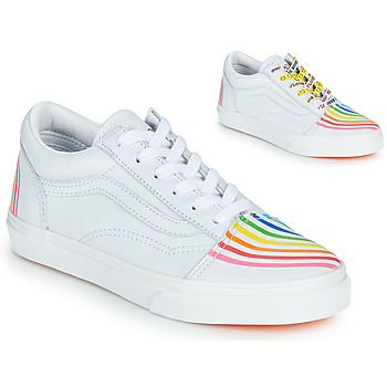 Chaussures Fille Baskets basses Vans OLD SKOOL Blanc