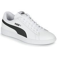 Chaussures Homme Baskets basses Puma SMASH Blanc / Noir