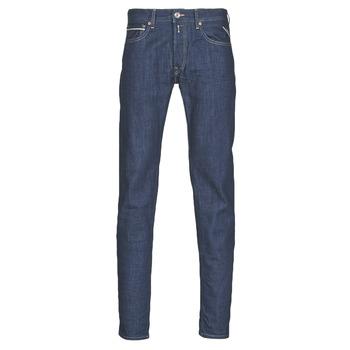 Vêtements Homme Jeans droit Replay GROVER Bleu Foncé