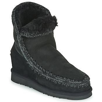 Chaussures Femme Boots Mou ESKIMO INNER WEDGE SHORT Noir