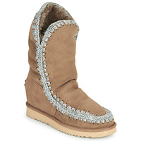 Chaussures Femme Boots Mou ESKIMO INNER WEDGE TALL Beige