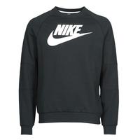 Vêtements Homme Sweats Nike M NSW MODERN CRW FLC HBR Noir / Blanc