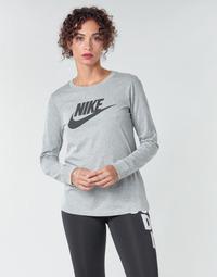 Vêtements Femme T-shirts manches longues Nike W NSW TEE ESSNTL LS ICON FTR Gris