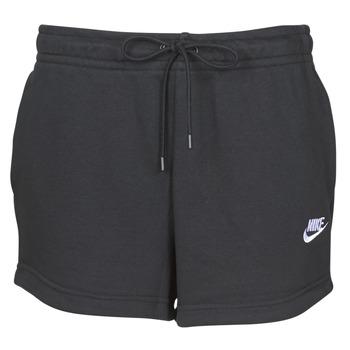 Vêtements Femme Shorts / Bermudas Nike W NSW ESSNTL SHORT FT Noir