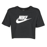 Vêtements Femme T-shirts manches courtes Nike W NSW TEE ESSNTL CRP ICN FTR Noir