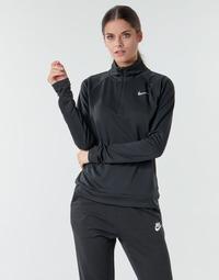 Vêtements Femme T-shirts manches longues Nike W NK PACER HZ Noir