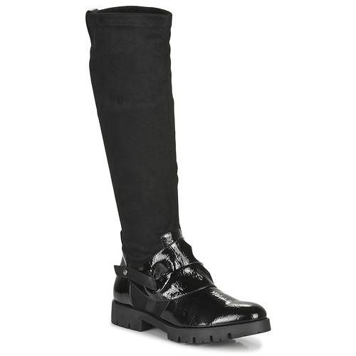Chaussures Femme Bottes ville Regard CANET V1 VERNIS NOIR Noir