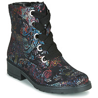 Chaussures Femme Boots Ara DOVER-STF Noir / Multicolore