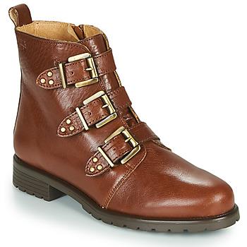 Chaussures Femme Boots Dream in Green NOURAT Camel