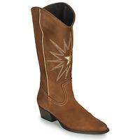 Chaussures Femme Bottes ville Fericelli NISCOME Camel / doré