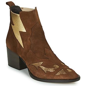 Chaussures Femme Bottines Fericelli NAUSSON Beige / doré