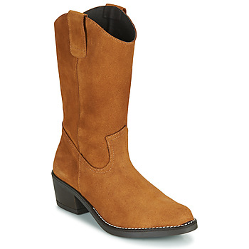 Chaussures Femme Bottes ville Casual Attitude NESCARGO Camel