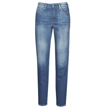 Vêtements Femme Jeans droit G-Star Raw 3301 HIGH STRAIGHT 90'S ANKLE WMN faded cobalt