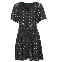 Vêtements Femme Robes courtes Guess ELLA DRESS Noir / Blanc