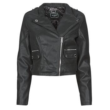 Vêtements Femme Vestes en cuir / synthétiques Guess FRANCES JACKET Noir