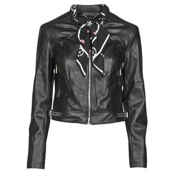 Vêtements Femme Vestes en cuir / synthétiques Guess NEW JONE JACKET Noir