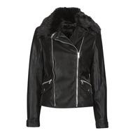 Vêtements Femme Vestes en cuir / synthétiques Guess CANTARA Noir