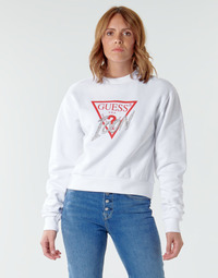 Vêtements Femme Sweats Guess ICON FLEECE Blanc