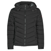 Vêtements Homme Doudounes Guess STRETCH PUFFA HOODED Noir