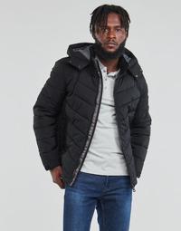 Vêtements Homme Doudounes Guess STRETCH PUFFA HOODED Noir