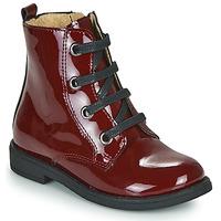Chaussures Fille Boots Citrouille et Compagnie HEMANU Bordeaux