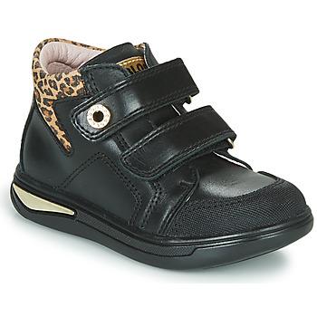 Chaussures Fille Baskets montantes Pablosky 490611 Noir / Leopard