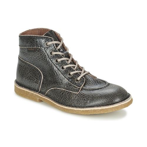 Chaussures Femme Boots Kickers KICKLEGEND Noir brillant