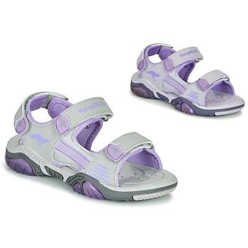Chaussures Enfant Sandales sport Kangaroos Sandalshine Gris / Violet