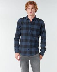 Vêtements Homme Chemises manches longues Only & Sons ONSGUDMUND Marine / Noir
