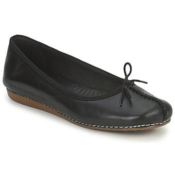 Chaussures Femme Ballerines / babies Clarks FRECKLE ICE Noir
