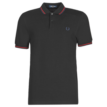 Vêtements Homme Polos manches courtes Fred Perry TWIN TIPPED FRED PERRY SHIRT BLACK/SIR/CB