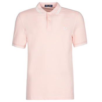 Vêtements Homme Polos manches courtes Fred Perry TWIN TIPPED FRED PERRY SHIRT SILVERPINK/SNW