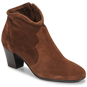 Chaussures Femme Bottines Betty London NORIANE Camel velours